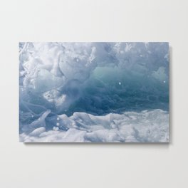 Foamy Ocean Splash Metal Print