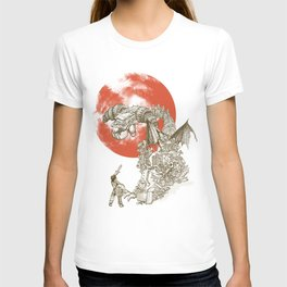 Junkyard Dragon (monochrome version) T-shirt