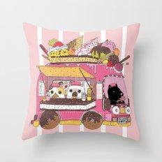 IceCream Truck Throw Pillow