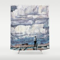 depression Shower Curtains featuring Depression by Rothko