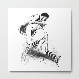 Rugby Front-Tackle by PPereyra Metal Print