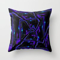 gothic Throw Pillows featuring Gothic by David  Gough