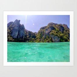 Emerald Water in Phi Phi island Art Print