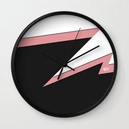 FLASH #pink #black #minimal #art #design #kirovair #buyart #decor #home Wall Clock