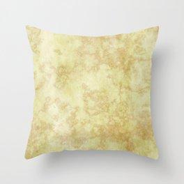 Venetian Marble - Vanilla Ochre Throw Pillow