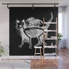 Devil Kitty - inverted Wall Mural