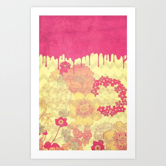 Dripping Flowers - for iphone Art Print