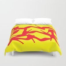 Shoe Fetish (Version 2) in Red and Yellow by Bruce Gray Duvet Cover