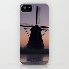 Windmills at Sunrise III iPhone Case
