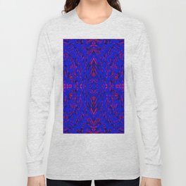 blue on red symmetry Long Sleeve T-shirt