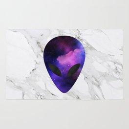 Galaxy Alien on Marble - tumblr trendy Rug