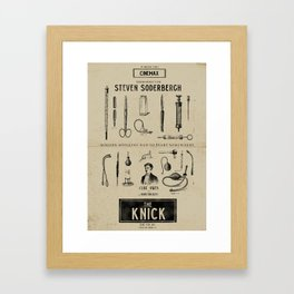 The Knick - Rétro Poster (Tv Series by S. Soderbergh) Framed Art Print
