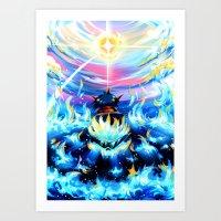gurren lagann Art Prints featuring Gurren Lagann - Burning Soul by Cielo+