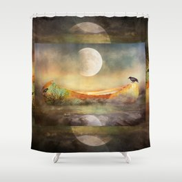 By the Light of the Crow Moon Shower Curtain