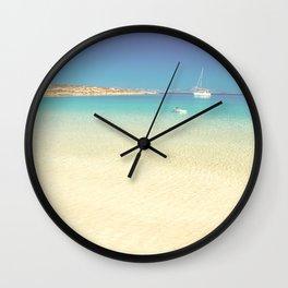 Exotic beach No2 Wall Clock