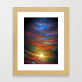 Sunset sky Framed Art Print