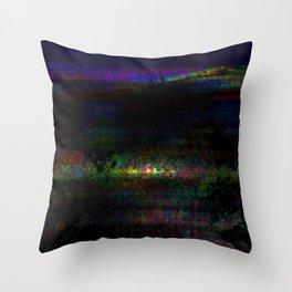 dark rainbow Throw Pillow