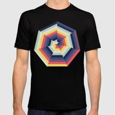 Heptagon Quilt 2 Mens Fitted Tee MEDIUM Black