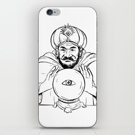 Fortune Teller Crystal Ball Drawing iPhone Skin