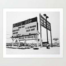 Swap-Meet sign Art Print