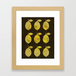 I Love Lemons Framed Art Print