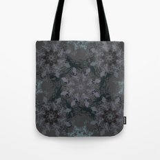 Damask, grey Tote Bag
