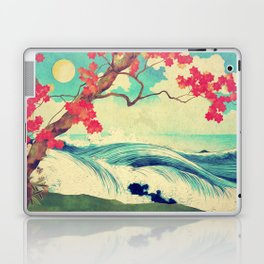 Waking to the Wild and Beautiful Ocean of Dhin Laptop & iPad Skin