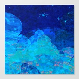 Deep Blue Night Sky Glow Canvas Print