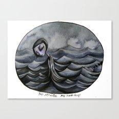 her Atlantic... Canvas Print