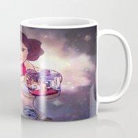 leia Mugs featuring Leia by Artistic