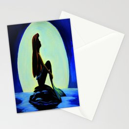 Mermaid in the moonlight Stationery Cards