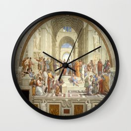 Raphael's The School of Athens Wall Clock