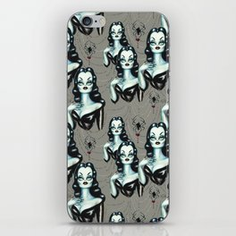 Vampire Vixen with Black Widow Spider iPhone Skin
