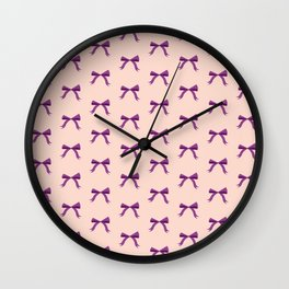 Tiny Bows Wall Clock