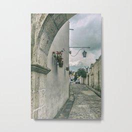 Colonial Street of Arequipa City Peru Metal Print