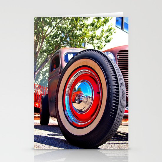 The wheel deal Stationery Cards