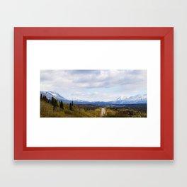Sprawling Blue Framed Art Print