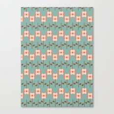 Geo Flower Line Canvas Print