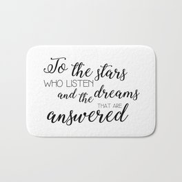 to the stars who listen (acomaf) Bath Mat