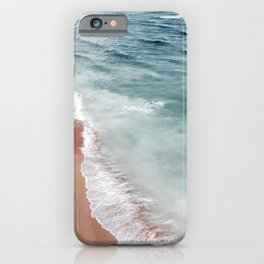 Ocean Print, Beach Sea Print, Aerial Beach Print, Minimalist Print, Beach Photography, Bondi Beach iPhone Case