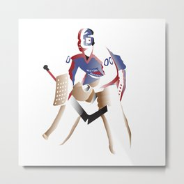 Double Zero Goalie Metal Print