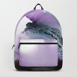 Abstract composition in purple and grey Backpack