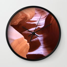 Antelope Colors Abstract Sandstone Waves Wall Clock