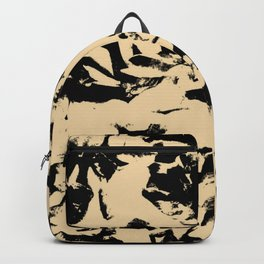 Beige Yellow Black Abstract Military Camouflage Backpack