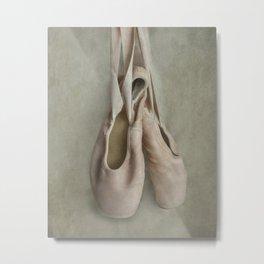 Creamy pink ballet shoes Metal Print