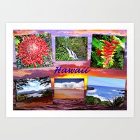 hawaii Art Prints featuring Hawaii by Art-Motiva