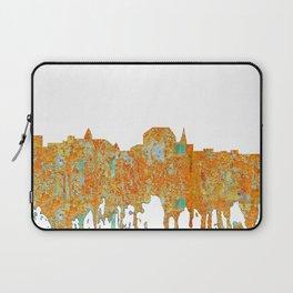 Augusta, Maine Skyline - Rust Laptop Sleeve