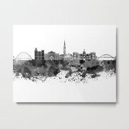 Newcastle skyline in black watercolor Metal Print