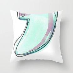 Green Surf Tail Throw Pillow
