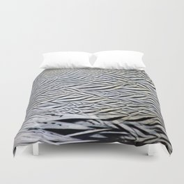 Silver Pheasant Feather Detail Duvet Cover